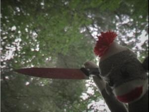 Sex, Drugs & Violence sock monkey