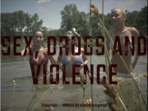 Sex, Drugs & Violence title scene